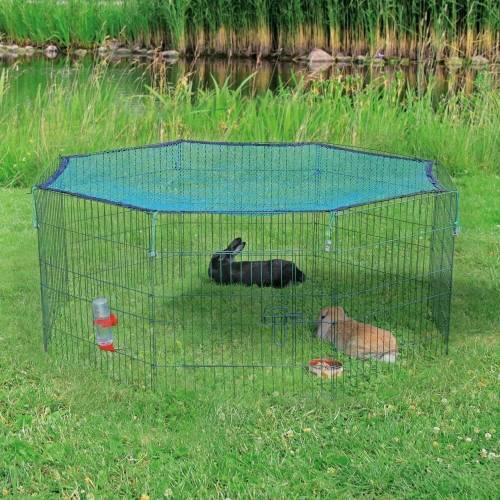 Enclos ext rieur lapin 8 panneaux avec filet de protection for Enclos exterieur pour lapin