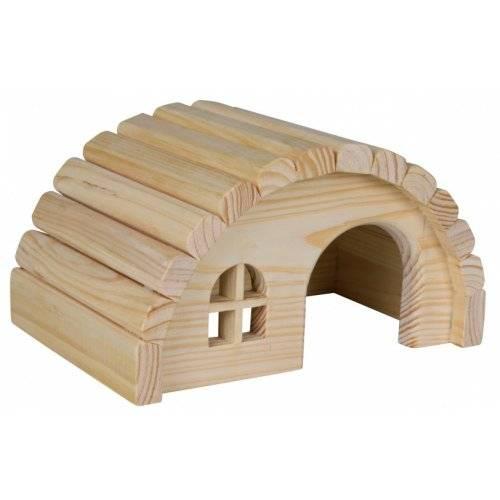 Maison ronde en bois pour cochon d 39 inde pour rongeur for Maison bois ronde tournante