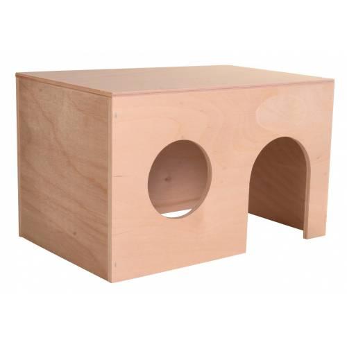 maisonnette simple cochon d 39 inde bois pour rongeur trixie auberdog. Black Bedroom Furniture Sets. Home Design Ideas