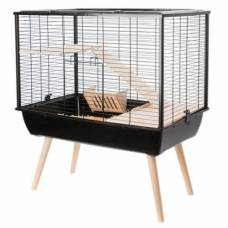 Cage lapin Neo Muki noire
